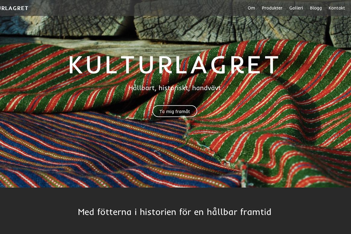 Screenshot på förstasidan på sarakanahols.se